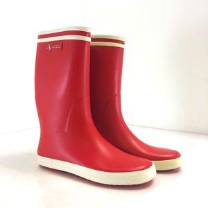 """NWT Aigle """"Lolly Pop"""" in Rouge Blanc"""